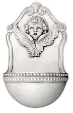 "Cherub Angel with Wings Wall fountain 23.5"" for home or garden"