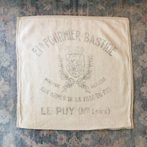 "Restoration Hardware Vintage French Grainsack FOURNIER BASTIDE Pillow Cover 22"""