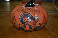 """Ceramic Fall/Thanksgiving """"Welcome"""" centerpiece pumpkin."""