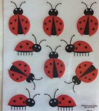 """1/"""" lady bug vinyl decal 2 color custom stickers make your own crafts S923 4"""