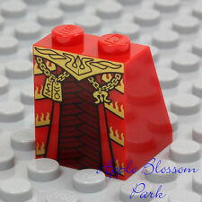 NEW Lego Female RED MINIFIG SKIRT - Girl Queen Dress Bottom w/Gold Chima Chain