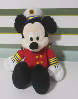 MICKEY MOUSE PLUSH TOY AUTHENTIC ORIGINAL CRUISE LINE CRUISE SHIP CAPTAIN 26CM!