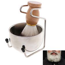3In1 Clean Tool Shave Frame Soap Bowl Bristle Hair Shave Brush Shaving Brush  bc
