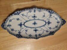 royal copenhagen blue fluted half lace pickle dish #1/613 vintage original.