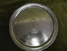 early 19th c 750 (portugal-Lisbon) silver round salver / teapot stand 221gr
