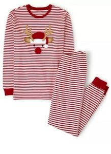 Gymboree Adult Pajamas Striped Reindeer Holiday 2 Piece XL New In Bag