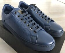 $500 MCM Blue Leather Sneakers size US 11, EU 44 Made in Italy