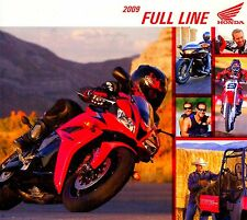 2009 HONDA MOTORCYCLE & ATV BROCHURE-GOLDWING-VTX-CBR-SHADOW-SCOOTER-CRF-XR-AQUA