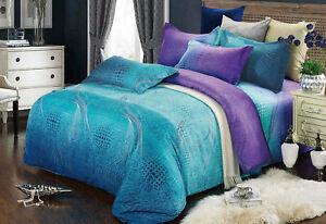 Single/Double/Queen/King Size Bed Quilt Doona Duvet Cover Set 100% Cotton-Rhythm
