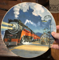 Hamilton Collection Great Trains Series Starlight Limited Collector Plate, 1994