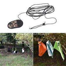 3.2m Beads & 2-wire Design Outdoor Camping Travel Nylon Washing Clothes Line