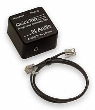 JK Audio QuickTap Phone Line Tap Record Telephone Calls Audio Mixer Interface