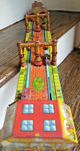 Vintage Louis Marx Main Street Tin Litho Metal Wind-Up Toy from 1920s  IT WORKS!