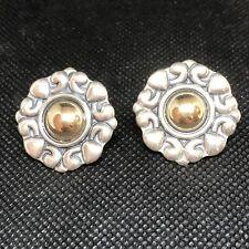 Retired  14k Gold James Avery Sterling Silver  French Clip Earrings Omega