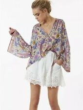 Spell And The Gypsy Designs Magnolia Mini Skirt White Lace XS