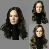 """Angelina Jolie 1/6 Planted Hair Head Sculpt Carved Fit 12"""" Female Action Figure"""