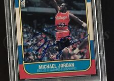 SIGNED 1986/87 FLEER 57 MICHAEL JORDAN REAL TRUE ROOKIE AUTO CARD RC PSA DNA UDA