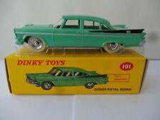 Dodge Royal Sedan Vert aile ar.noire Dinky Toys 191 Atlas GB Neuf box 2014 1/43