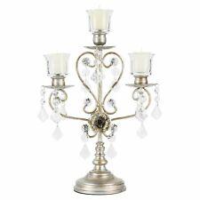 Vintage 3-Light Candelabra Centerpiece | Silver | Madeleine Collection