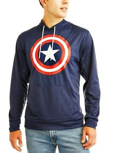 Captain America Marvel Long Sleeve Pullover Hooded Shirt