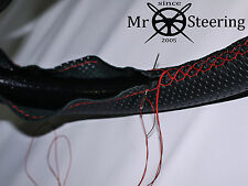 Per FIAT 500 1957-1975 Volante in Pelle Perforata Copertura Rosso doppia cucitura