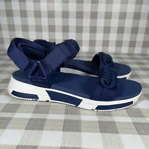Fitflop Women's Size 9 Strappy Sandals Heda Chain Navy Blue