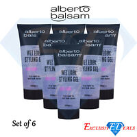 Alberto Balsam Styling Gel Wet Look Hair Styling Gel Long Lasting 6 x 200ml