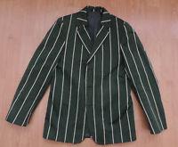 Mens Beau Brummel School Boating Blazer Jacket Green White Striped G5-B3