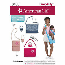 Simplicity Pattern 8400 American Girl Learn-To-Sew Bags purses matching girls