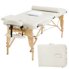 Portable Massage Table 2 Folding 73 Inch Long 28 Inch Wide Half Bolsters Sheets
