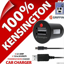 Kensington PowerBolt Micro USB 2.1A Rapide Chargeur Auto + 30 Pin Charge