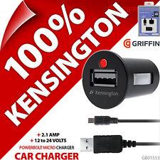 KENSINGTON POWERBOLT Micro USB 2.1a RÁPIDO PARA COCHE CARGADOR + 30pin charge