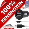 Kensington Powerbolt Micro USB 2.1A Rápido para Coche Cargador + 30 Pines Carga