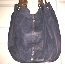 COLDWATER CREEK BLUE LEATHER HOBO SHOULDER BAG