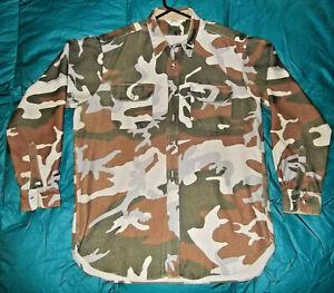 Vintage CABELA'S Camo Camouflage Mens Shirt XL Hunting Heavy  USA   Euc