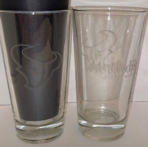 Houston Texans Houston Methodist Drinking Pint Beer Glasses NFL Branded SET OF 2