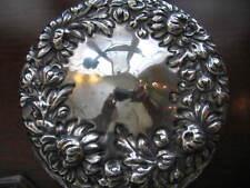 Sterling Repousse Lid-Cut Crystal Jar
