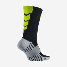 NIKE MatchFit Soccer/Football Crew Socks SX4854-070 M (6-8) Black / Volt