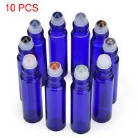 10ml Travel Roll on Glass Bottle Empty Essential Oil Perfume Roller Ball Bottle