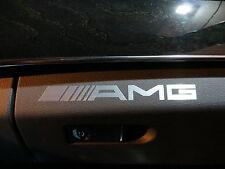 (2pcs) dashboard badge sticker decal MBZ *AMG*