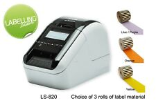 BROTHER QL-820NWB LABEL PRINTER DIRECT THERMAL MACHINE PACKAGE FREE LABELS