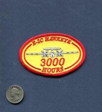 GRUMMAN E-2 C HAWKEYE 3000 FLIGHT HOURS US NAVY Squadron Flight Crew Patch