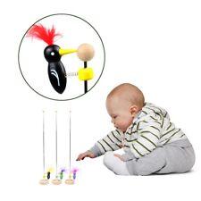 2x Funny Woodpecker Pole Vintage Classic Toy Baby Education Random LuSir egaszdg
