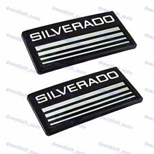 X2 Cab Emblems 3d Badge Side Roof Pillar Decal Plate For Chevy Silverado Black