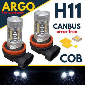 Fits Nissan Navara Led Foglight Super White Xenon D40 Bulbs Headlight Fog Light