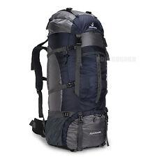 80L Hiking camping Travel big Backpack Rucksack bag taking  20kg Men dark blue