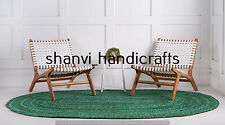 Braided Handmade Oval Rug Cotton 3x4 Feet Rug Yoga Meditation Mat Home Decor Rug