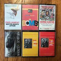 Parliament Funkadelic Lot Of 6 Cassettes George Clinton Motor Booty RARE P-Funk