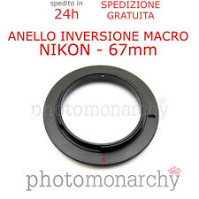 Anello MACRO Inversione 67 mm per NIKON diametro 67mm macro adapter ring