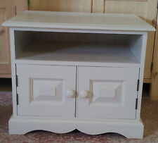 Painted TV Cabinet with 2 doors and cut out plinth
